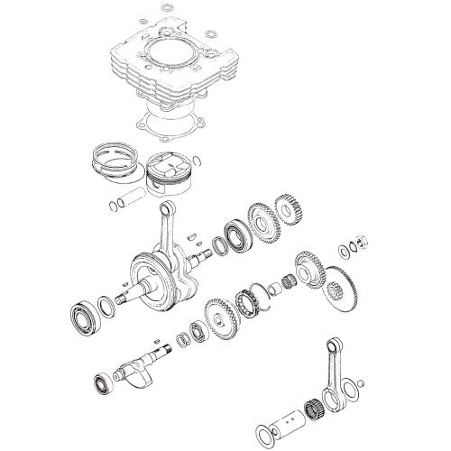Crankshaft, Piston, Cylinder